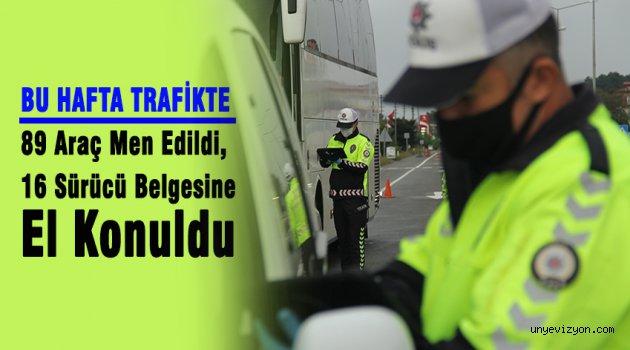 89 Araç Men Edildi, 16 Sürücü Belgesine El Konuldu