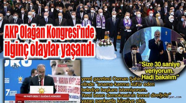 AKP Olağan Kongresi'nde ilginç olaylar yaşandı