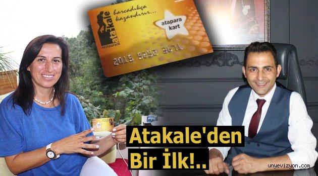 """Atakale'den Bir İlk!.. """" Atapara Kart"""" Kullanıma Girdi"""