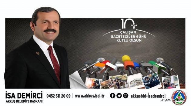 Başkan Demirci'nin 10 Ocak Çalışan Gazeteciler Günü Mesajı