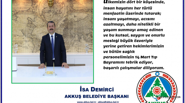 Başkan Demirci'nin 14 Mart Tıp Bayramı Mesajı