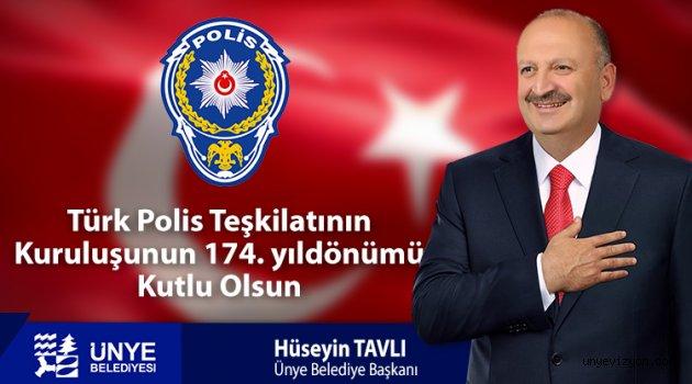 """Başkan Tavlı, """"Polisimiz Kamu Huzurunun Tesisinde Toplumun Kilit Taşıdır"""""""
