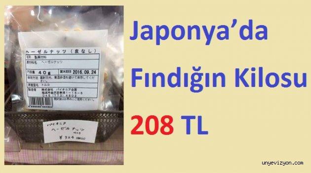 Fındığın Japonya'daki Fiyatına Şaşıracaksınız