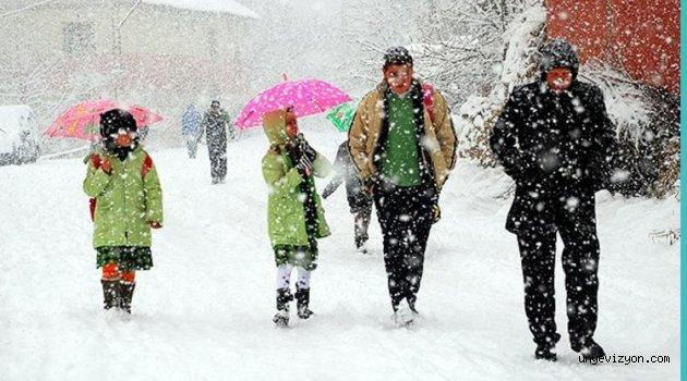 Kar Nedeniyle Birçok İlçede Okullar Tatil Edildi