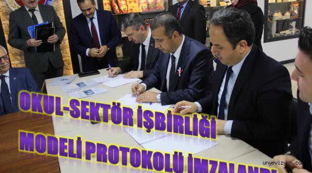 Okul- Sektör İş Birliği Modeli Protokolü İmzaladı