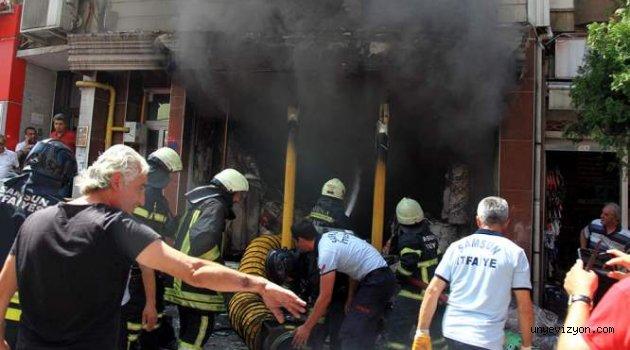 Samsun'da 5 Katlı Binada Yangın Çıktı: 1 Yaralı