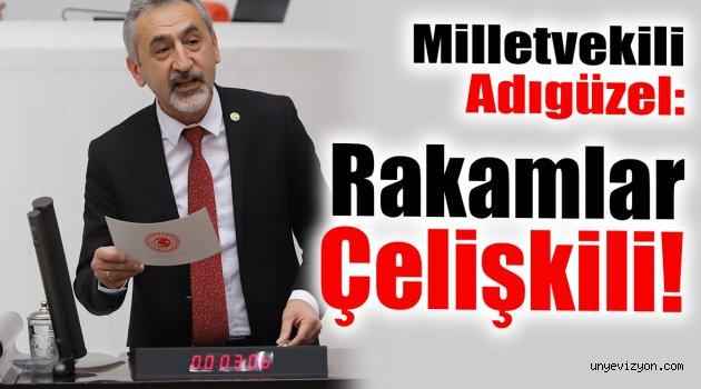 Milletvekili Adıgüzel Açıkladı: Rakamlar Çelişkili!