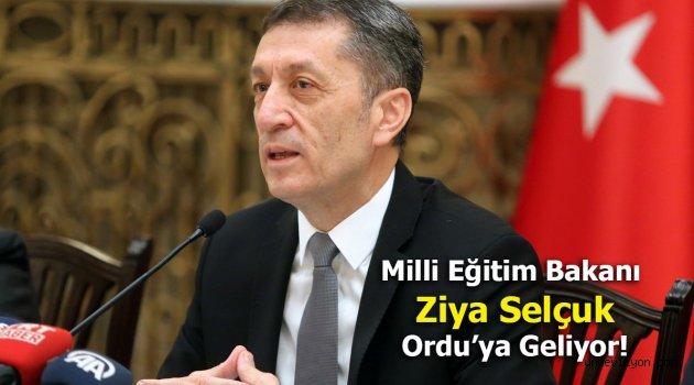 Milli Eğitim Bakanı Ordu'ya Geliyor