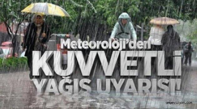 Ordu'ya Kuvvetli Yağış Uyarısı