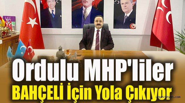 Ordulu MHP'liler  Devlet Bahçeli İçin Yola Çıkıyor