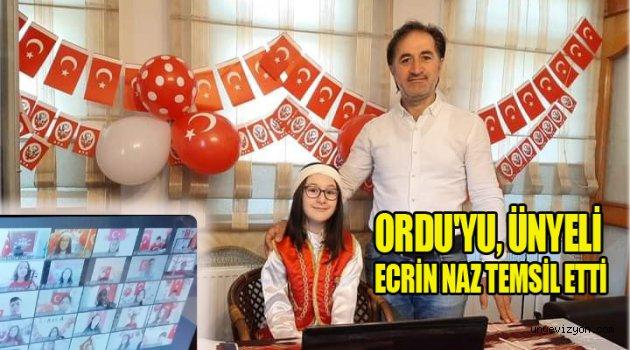 ORDU'YU, ÜNYELİ ECRİN NAZ TEMSİL ETTİ