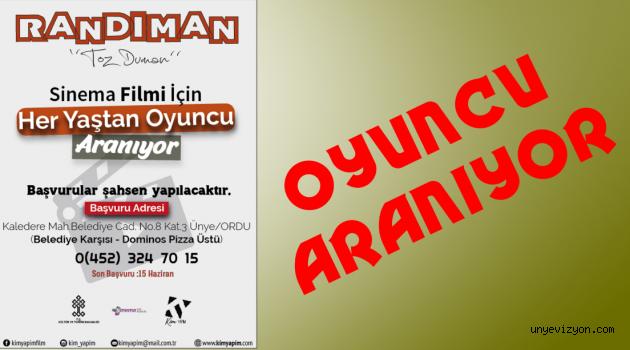 SİNEMA FİLMİ İÇİN OYUNCU ARANIYOR!