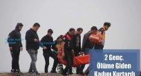 2 Genç, Ölüme Giden Kadını Kurtardı