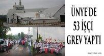 Ünye'de 53 İşçi Grev Yaptı