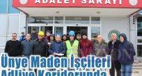 Ünye Maden İşçileri Adliye Koridorunda