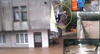 Aşırı Yağış Ünye'yi Vurdu Yollar Kapandı