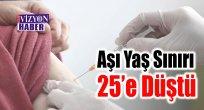 Aşı Yaş Sınırı 25'e Düştü