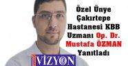 """Bu Hafta Vizyon Gazetesi Sordu """"Dr. ÖZMAN"""" Yanıtladı"""