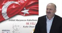 Tavlı'nın, İstiklal Marşı'nın Kabulü ve Mehmet Akif Ersoy'u Anma Günü mesajı