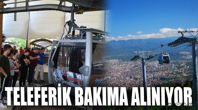 TELEFERİK BAKIMA ALINIYOR