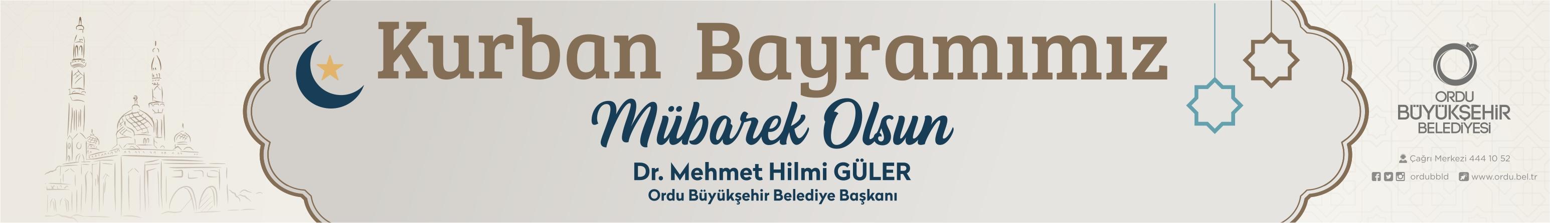 Ordu Büyükşehir Belediyesi Kurban Bayramı Kutlaması