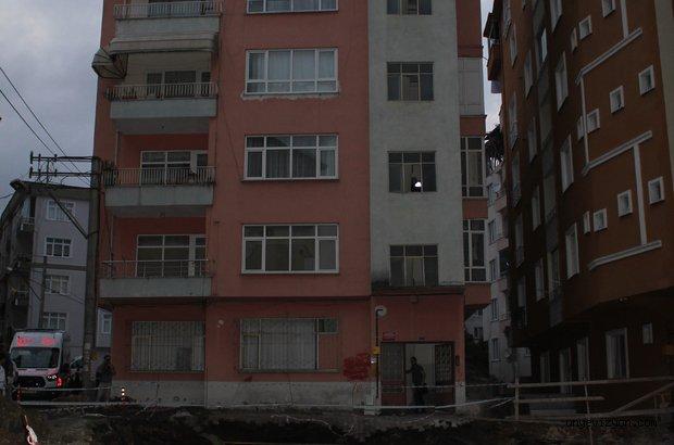 Ünye'de 5 Katlı Bina Çökme Tehlikesi Yüzünden Boşaltıldı