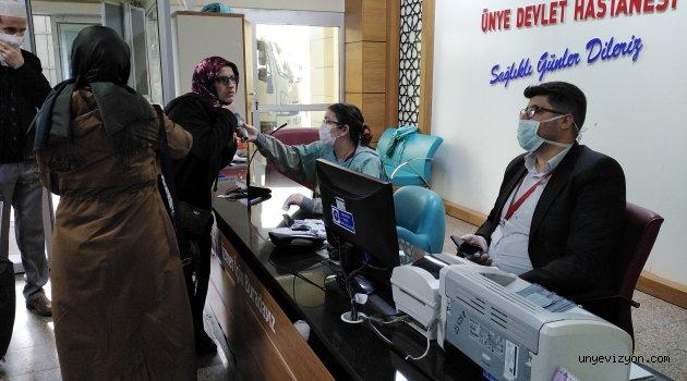 Ünye Devlet Hastanesi Kontrolleri Sıkı Tutuyor