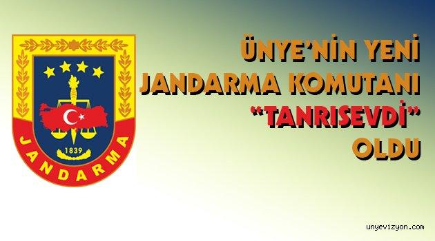 """Ünye'nin Yeni Jandarma Komutanı """"Tanrısevdi"""" Oldu"""
