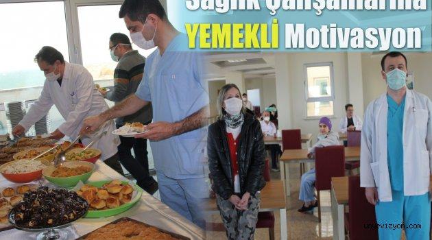 Ünye'de Sağlık Çalışanlarına Yemekli Motivasyon