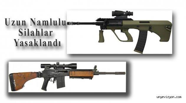 Uzun Namlulu Silahlar Yasaklandı