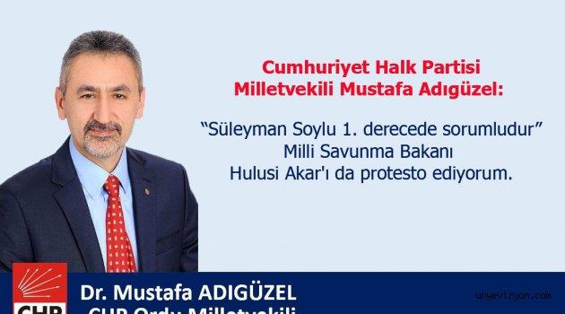 """Vekil Adıgüzel: """"Süleyman Soylu 1. derecede sorumludur"""""""